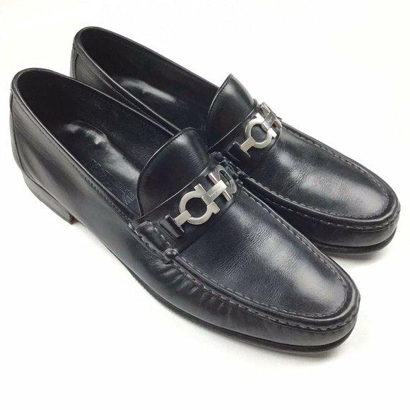Salvatore Ferragamo 12 D Slip On Horsebit Loafers